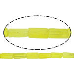 Natural Quartz Jewelry Beads, Lemon Quartz, Rectangle, yellow, 12x4.50mm, Hole:Approx 1mm, Approx 32PCs/Strand, Sold Per Approx 16 Inch Strand