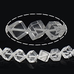 Quartz Jewelry Beads, Clear Quartz, Cube, 14.50x15.50x9mm, Hole:Approx 1mm, Approx 30PCs/Strand, Sold Per Approx 15 Inch Strand
