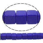 Lapis Lazuli Beads, synthetic lapis, Cube, 8x8x8mm, Hole:Approx 1mm, Length:approx 15.5 Inch, 10Strands/Lot, Sold by Lot