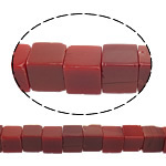Natural Jade Beads Jade Red Cube 10x10x10mm Hole:Approx 1.5mm Approx 38PCs/Strand Sold Per Approx 15 Inch Strand