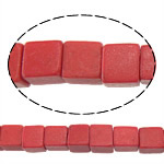 Coral Beads Cube red 4.50x4.50x4.50mm Hole:Approx 1mm Approx 94PCs/Strand Sold Per Approx 15 Inch Strand
