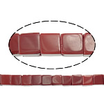Natural Jade Beads, Jade Red, Cube, 6x6x6mm, Hole:Approx 1mm, Approx 64PCs/Strand, Sold Per Approx 15.5 Inch Strand