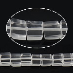 Natural Clear Quartz Beads, Cube, 8x8.50x8mm, Hole:Approx 1mm, Approx 49PCs/Strand, Sold Per Approx 16 Inch Strand