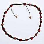 Ожерелья Шамбал, Натуральная Бирюза, с Восковой шнур, Животное, со стразами, черный, 9x11mm, 13x10x12.5mm, Продан через 24 дюймовый Strand