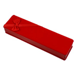 Velveteen Necklace Box, Rectangle, red, 60x203x35mm, Sold By PC