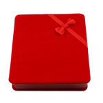 Velveteen Necklace Box, Square, red, 165x175x46mm, Sold By PC
