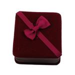 Pluszowe pudełko na bransoletkę, Welwet, Kwadrat, 90x96x36mm, sprzedane przez PC