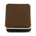 Kartonowe pudełko na bransoletkę, Tektura, ze Welwet, Kwadrat, brązowy, 90x96x40mm, sprzedane przez PC