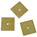 Messing Pakking, Plein, oorspronkelijke kleur, lood en cadmium vrij, 8x8mm, Gat:Ca 0.5mm, 5000pC's/Bag, Verkocht door Bag