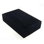 Velveteen Ring Display, Rectangle, black, 215x135x52mm, 5PCs/Lot, Sold By Lot