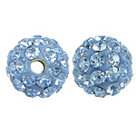 Czech Rhinestone Beads, Clay Pave, Round, with 50 pcs rhinestone & with Czech rhinestone, 6mm, Hole:Approx 1mm, 10PCs/Bag, Sold By Bag