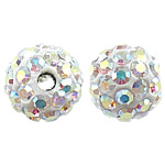 Czech Rhinestone Beads Clay Pave Round with 50 pcs rhinestone   with Czech rhinestone 6mm Hole:Approx 1mm 10PCs/Bag