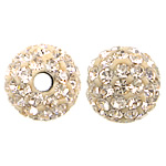 Czech Rhinestone Beads, Clay Pave, Round, with 75 pcs rhinestone & with Czech rhinestone, 8mm, Hole:Approx 2mm, 10PCs/Bag, Sold By Bag