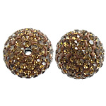 Czech Rhinestone Beads Clay Pave Round with 110 pcs rhinestone   with Czech rhinestone 12mm Hole:Approx 2mm 10PCs/Bag