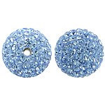 Czech Rhinestone Beads Clay Pave Round with 150 pcs rhinestone   with Czech rhinestone 14mm Hole:Approx 2mm 10PCs/Bag