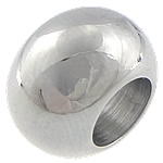 Ruostumaton teräs European Helmet, Rondelli, erikokoisia valinnalle & ilman peikko, alkuperäinen väri, Reikä:N. 6mm, 50PC/laukku, Myymät laukku