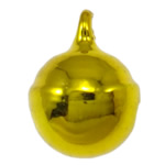 Brass Bell Pendant, painted, yellow, nickel, lead & cadmium free, 13x10mm, Hole:Approx 2mm, 1000PCs/Bag, Sold By Bag
