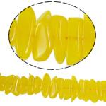 Koraliki z żywicy imitujące bursztyn, żywica, 11-23mm, otwór:około 1mm, 78komputery/Strand, sprzedawane na 17 cal Strand