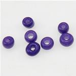 Matowe szklane koraliki, Koraliki szklane, Okrąg, oszroniony, fioletowy, 2x1.90mm, otwór:około 1mm, sprzedane przez torba