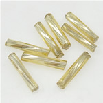 Twist Bugles Glass Seed Beads, 2x9mm, Hole:Approx 1mm, Sold by Bag