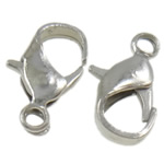 Iron Lobster Claw Clasp, Teardrop, plated, more colors for choice, 11.50x7x3mm, Hole:Approx 1.5mm, Approx 100PCs/Bag, Sold By Bag