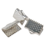 Iron Ribbon Crimp, 10x8x6mm, Hole:Approx 3x1.5mm, 5000PCs/Bag, Sold by Bag