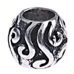 Zinc Alloy European Beads, Drum, without troll, nickel, lead & cadmium free, 8.50x10mm, Hole:Approx 5mm, Sold By PC