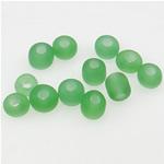 Matowe szklane koraliki, Koraliki szklane, Okrąg, oszroniony, zielony, 3x3.60mm, otwór:około 1mm, sprzedane przez torba