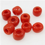 Opaque Glass Seed Beads, 3x3.60mm, Hole:Approx 1mm, Sold by Bag