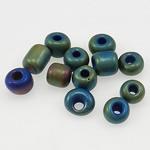Matowe szklane koraliki, Koraliki szklane, Okrąg, oszroniony, 3x3.60mm, otwór:około 1mm, sprzedane przez torba