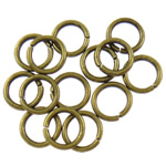 Iron Closed Jump Ring, 1.20x8mm, Hole:Approx 5.5mm, approx 8850PCs/Bag, Sold by Bag
