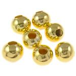 Żelazne koraliki, żelazo, Koło, Platerowane w kolorze złota, różnej wielkości do wyboru, bez zawartości niklu, ołowiu i kadmu, sprzedane przez torba