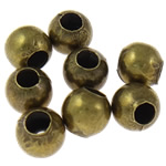 Iron Jewelry Beads, Round, antique bronze color plated, different size for choice, nickel, lead & cadmium free, Sold By Bag
