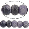 Natural Amethyst Beads, Rondelle, February Birthstone & faceted, 14x18.50mm, Hole:Approx 1.5mm, Approx 30PCs/Strand, Sold Per Approx 16 Inch Strand
