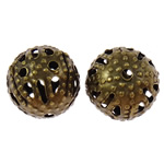 Iron Jewelry Beads, Round, antique bronze color plated, different size for choice, nickel, lead & cadmium free, Hole:Approx 0.7mm, Sold By Bag