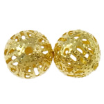 Iron Jewelry Beads, Round, gold color plated, different size for choice, nickel, lead & cadmium free, Hole:Approx 1mm, Sold By Bag