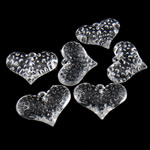 Acrylic Pendants, Heart, translucent, 28x37.50x11mm, Hole:Approx 3mm, Approx 85PCs/Bag, Sold By Bag