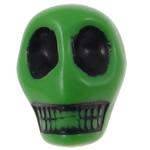 Antyczne koraliki akrylowe, Akryl, Czaszka, Nieprzejrzysty, imitacja antycznego, zielony, 12.50x10x12mm, otwór:około 2mm, 595komputery/torba, sprzedane przez torba