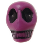 Antique Acrylic Beads, Skull, opaque, Imitation Antique, purple, 12.50x10x12mm, Hole:Approx 2mm, 595PCs/Bag, Sold By Bag