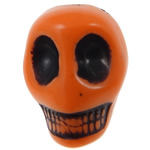 Antique Acrylic Beads, Skull, opaque, Imitation Antique, orange, 14x18x17.50mm, Hole:Approx 2.8mm, 187PCs/Bag, Sold By Bag