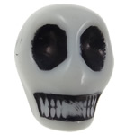 Antique Acrylic Beads, Skull, opaque, Imitation Antique, white, 14x18x17.50mm, Hole:Approx 2.8mm, 187PCs/Bag, Sold By Bag