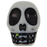 Antique Acrylic Beads, Skull, opaque, Imitation Antique, white, 18.50x14x18mm, Hole:Approx 2.8mm, 187PCs/Bag, Sold By Bag