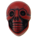 Antique Acrylic Beads, Skull, opaque, Imitation Antique, red, 19x14x11mm, Hole:Approx 2.5mm, 330PCs/Bag, Sold By Bag