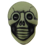 Antique Acrylic Beads, Skull, opaque, Imitation Antique, green, 20x14x11mm, Hole:Approx 2.5mm, 150PCs/Bag, Sold By Bag