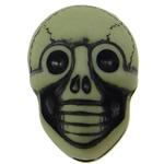 Antyczne koraliki akrylowe, Akryl, Czaszka, Nieprzejrzysty, imitacja antycznego, zielony, 20x14x11mm, otwór:około 2.5mm, 150komputery/torba, sprzedane przez torba