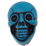 Antique Acrylic Beads, Skull, opaque, Imitation Antique, blue, 25.50x17.50x14mm, Hole:Approx 2.5mm, 150PCs/Bag, Sold By Bag
