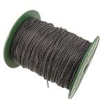 Żelazny drut na pętli, żelazo, Owal, Platerowane plombem w czarnym kolorze, bez zawartości niklu, ołowiu i kadmu, 2.50x3.70x0.70mm, długość:100 m, sprzedane przez PC