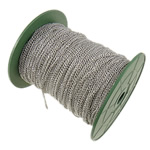 Żelazny drut na pętli, żelazo, Owal, Platerowane w kolorze platyny, bez zawartości niklu, ołowiu i kadmu, 2.50x3.70x0.70mm, długość:100 m, sprzedane przez PC