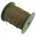 Żelazny drut na pętli, żelazo, Owal, Platerowane kolorem starego brązu, bez zawartości niklu, ołowiu i kadmu, 2.50x3.70x0.70mm, długość:100 m, sprzedane przez PC