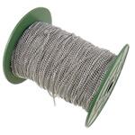 Żelazny drut na pętli, żelazo, Owal, Platerowane w kolorze platyny, bez zawartości niklu, ołowiu i kadmu, 2.50x3.50x0.60mm, długość:100 m, sprzedane przez PC